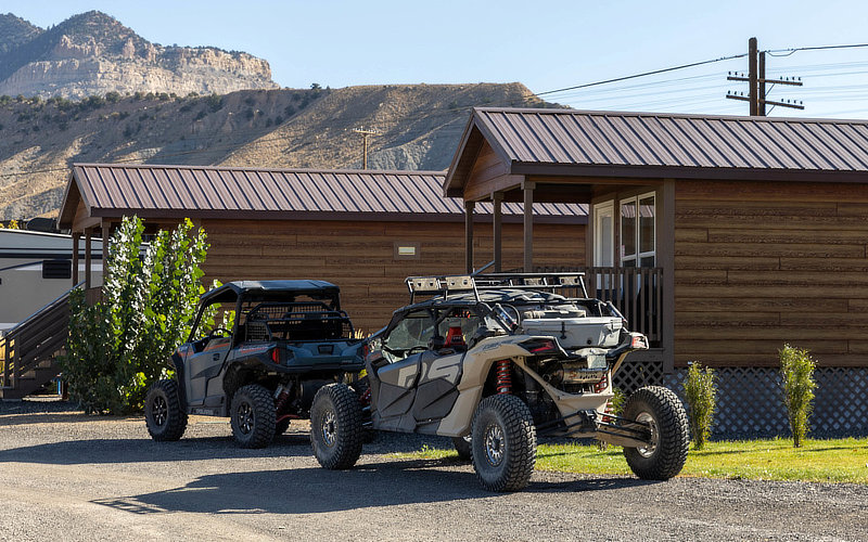 Girls with their off road vehicles